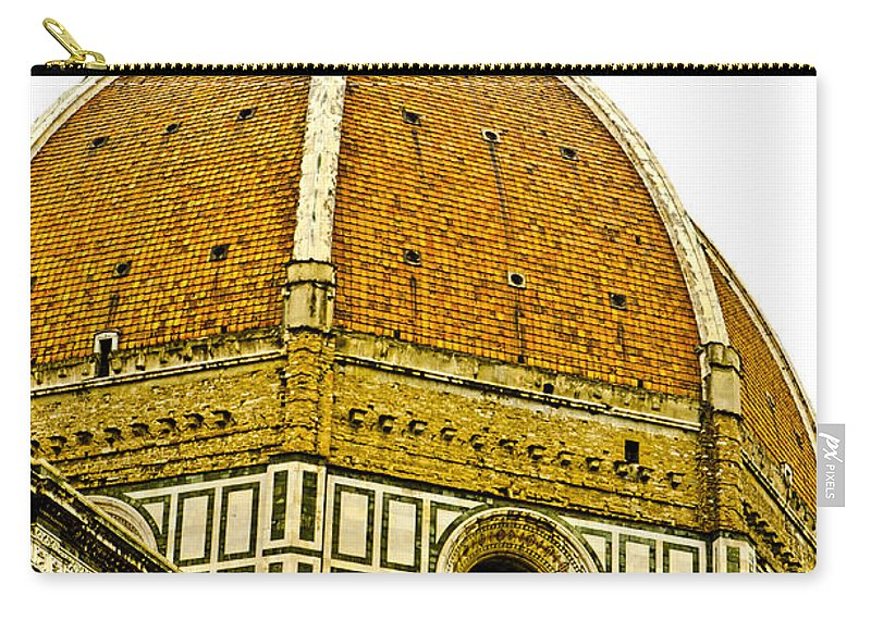 North Doors Carry-all Pouch featuring the photograph Duomo Florence Italy by Jon Berghoff