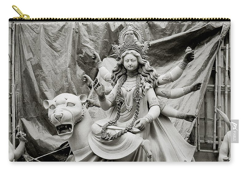 India Carry-all Pouch featuring the photograph Durga by Shaun Higson