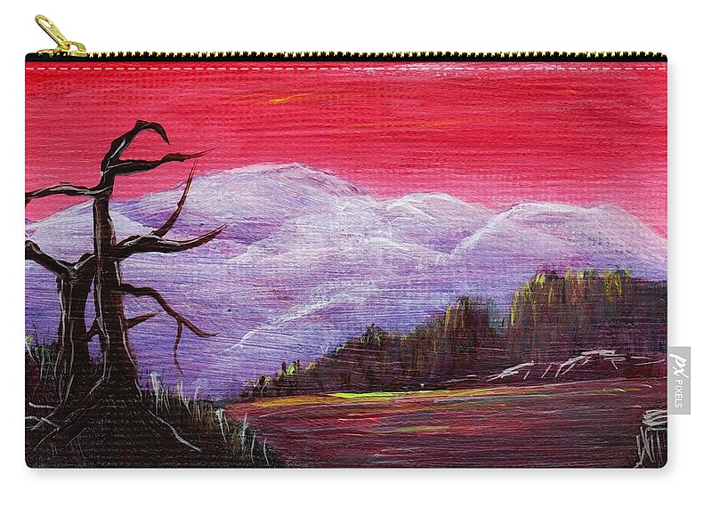 Interior Carry-all Pouch featuring the painting Dusk by Anastasiya Malakhova