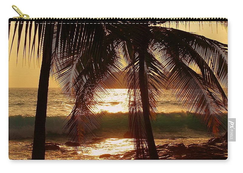 Hawaii# Hawaiian Sunset Carry-all Pouch featuring the photograph Dusk by Athala Bruckner