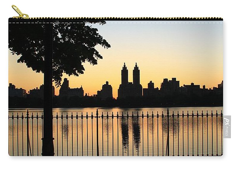 Central Park Carry-all Pouch featuring the photograph Dusk by Catie Canetti