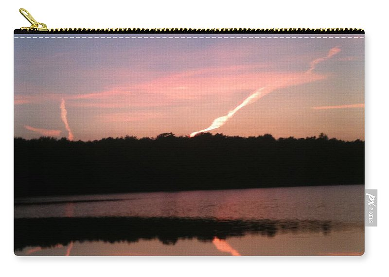 Dusk Carry-all Pouch featuring the photograph Dusk in the Poconos by Sheila Mashaw