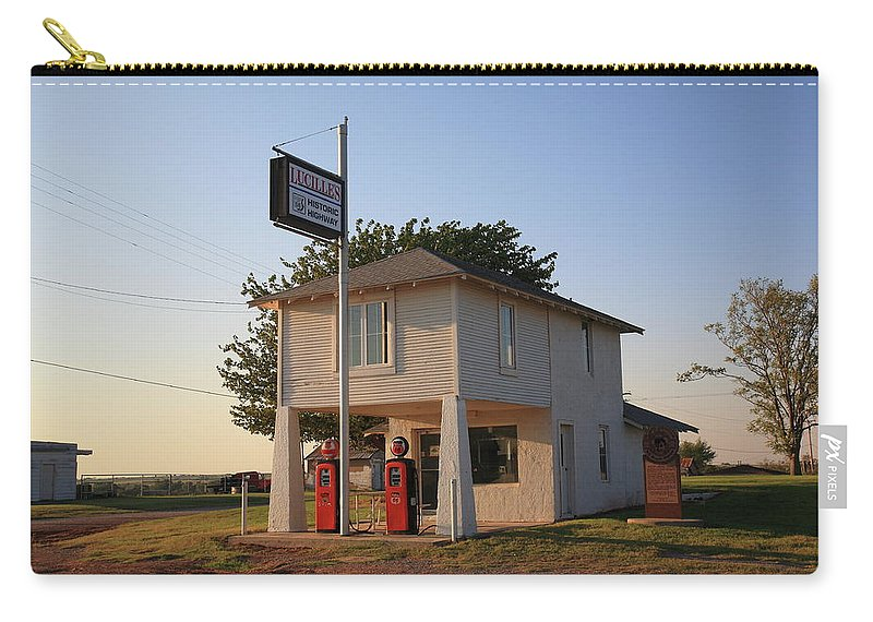 66 Carry-all Pouch featuring the photograph Dusk On Route 66 by Frank Romeo