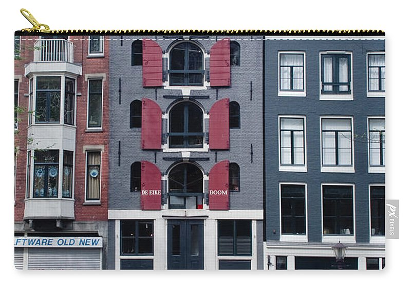 Amsterdam Carry-all Pouch featuring the photograph Dutch Canal House by Thomas Marchessault