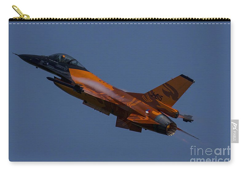 Dutch F16 Carry-all Pouch featuring the photograph Dutch Lion by J Biggadike