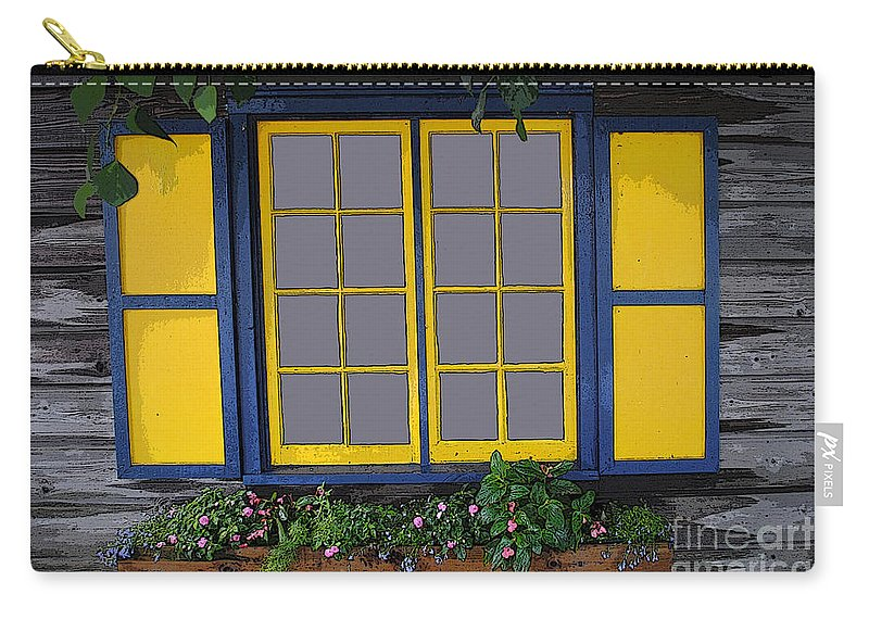 Window Carry-all Pouch featuring the photograph Dutch Window by Jost Houk