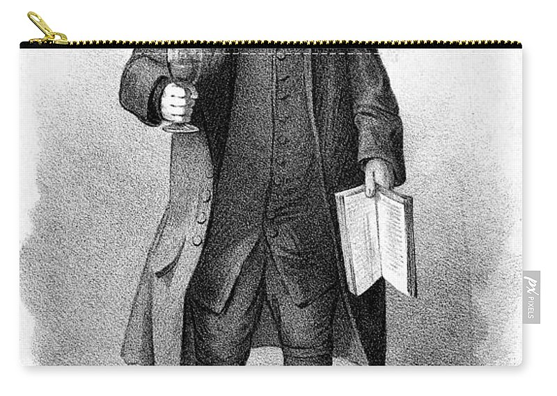 19th Century Carry-all Pouch featuring the painting Dwarf, 19th Century by Granger