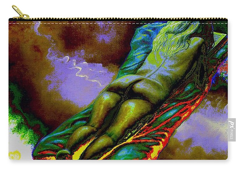 Genio Carry-all Pouch featuring the mixed media Dwelling In Erotic Pleaseure by Genio GgXpress
