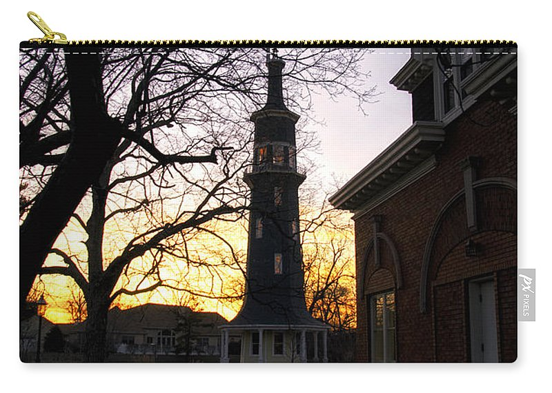 Windmill Carry-all Pouch featuring the photograph Dwight Windmill At Sunset by Thomas Woolworth