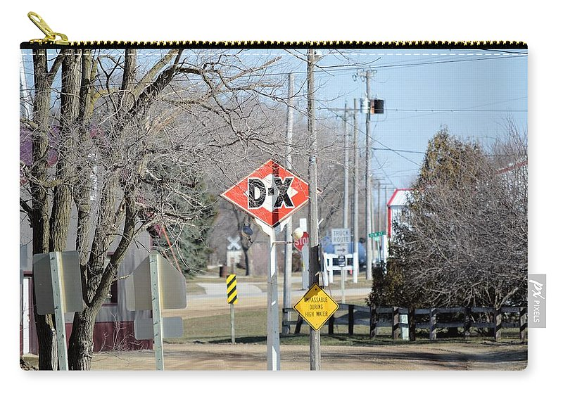 Sign Carry-all Pouch featuring the photograph Dx Gas Sign by Bonfire Photography