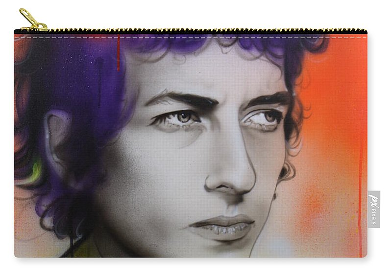 Bob Carry-all Pouch featuring the painting Dylan by Christian Chapman Art