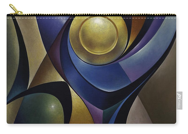 Stained-glass Carry-all Pouch featuring the painting Dynamic Chalice by Ricardo Chavez-Mendez