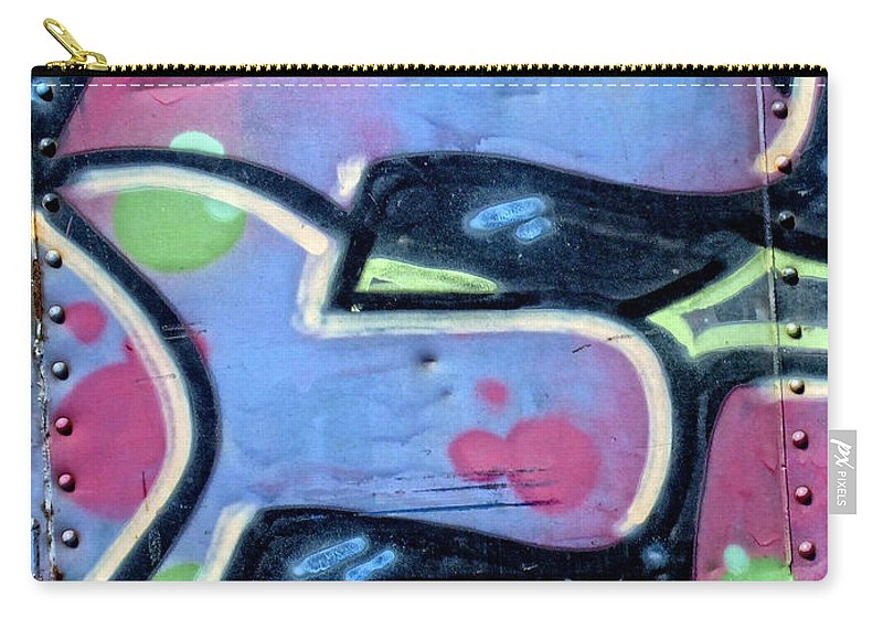 Graffiti Carry-all Pouch featuring the photograph E Is For Equality by Donna Blackhall