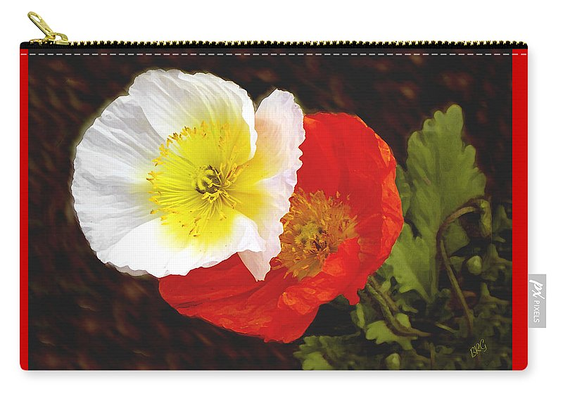 Iceland Poppies Carry-all Pouch featuring the photograph Eager Poppies by Ben and Raisa Gertsberg