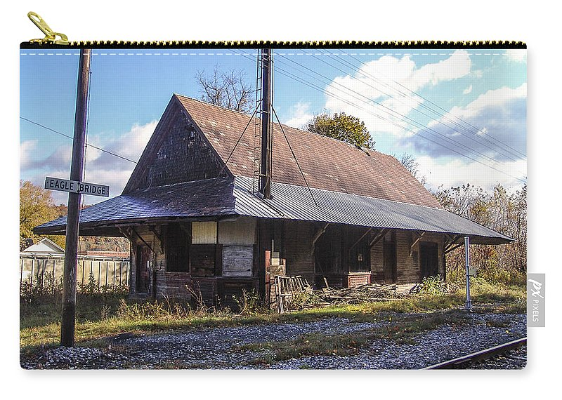 Train Depot Carry-all Pouch featuring the photograph Eagle Bridge Depot by Eric Swan