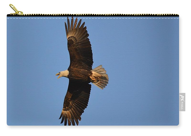 Eagle Carry-all Pouch featuring the photograph Eagle Flight 4 by Bonfire Photography
