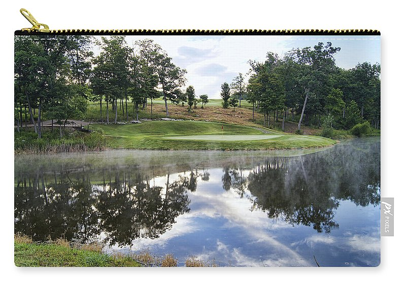 eagle Knoll Carry-all Pouch featuring the photograph Eagle Knoll Golf Club - Hole Six by Cricket Hackmann