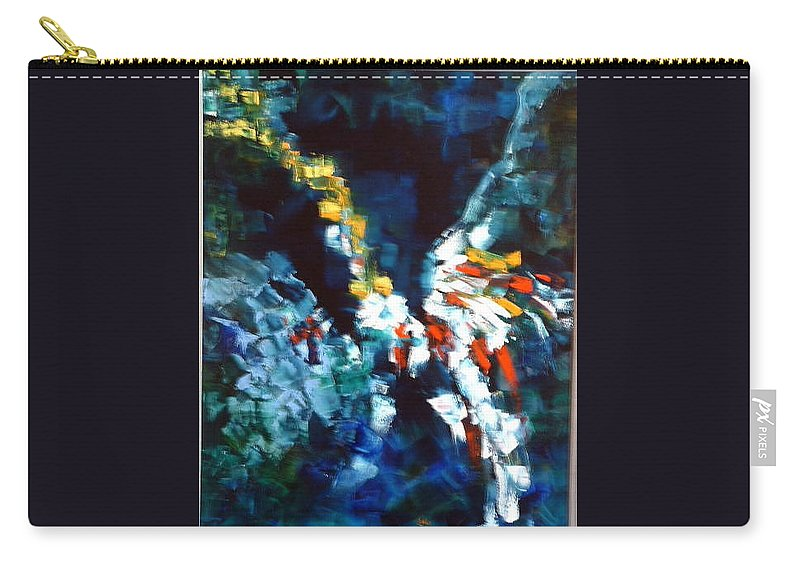 Blue Carry-all Pouch featuring the painting Eagle's Nest by Lord Frederick Lyle Morris - Disabled Veteran