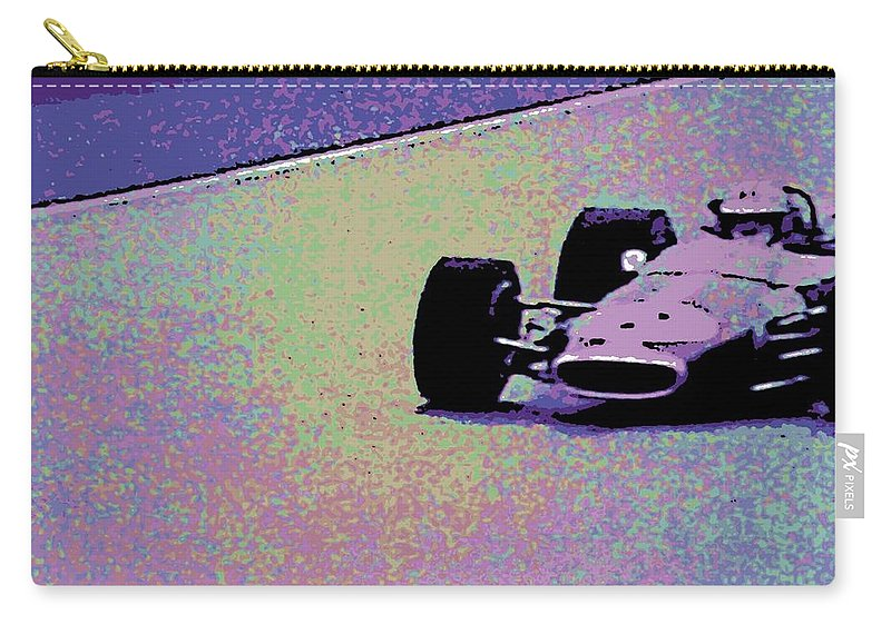 Formula 1 Racing Carry-all Pouch featuring the photograph Early 60's Era Formula 1 Race by George Pedro
