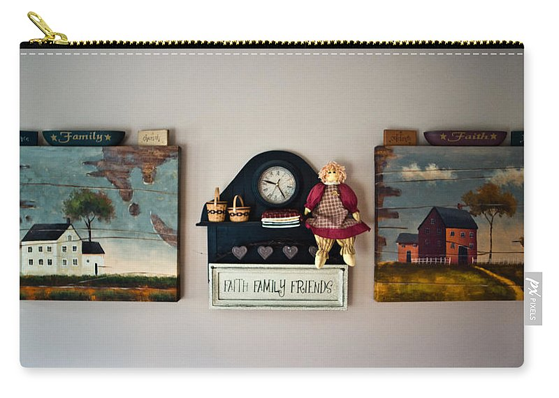 Early Carry-all Pouch featuring the photograph Early American Collage by Douglas Barnett