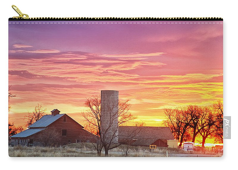 Early Carry-all Pouch featuring the photograph Early Country Morning Sunrise by James BO Insogna