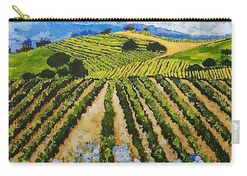 Landscape Carry-all Pouch featuring the painting Early Crop by Allan P Friedlander