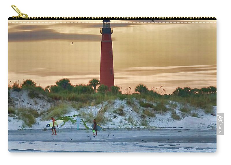 Lighthouse Carry-all Pouch featuring the photograph Early Evening Sky by Deborah Benoit