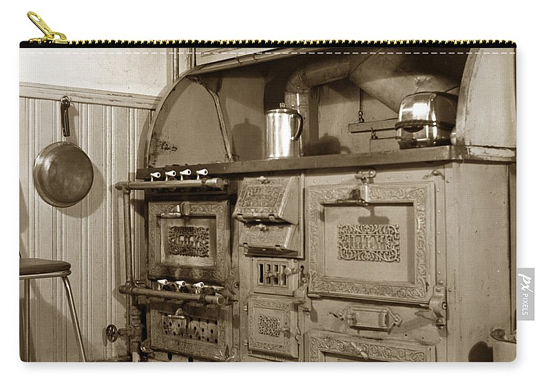 Early Carry-all Pouch featuring the photograph Early Kitchen With A Gas Stove 1920 by California Views Archives Mr Pat Hathaway Archives