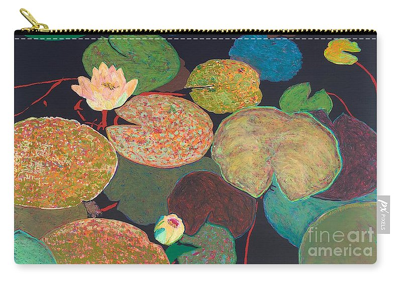 Landscape Carry-all Pouch featuring the painting Early Mist by Allan P Friedlander