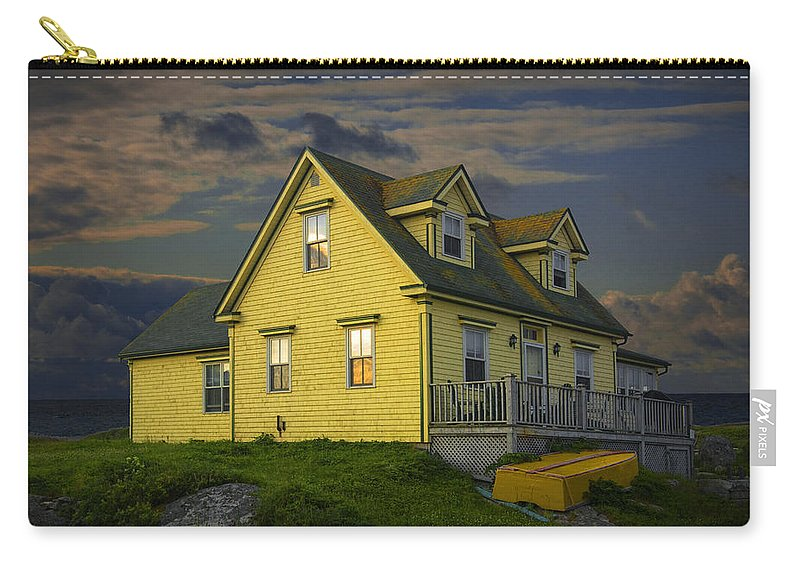 Peggy�s Cove Carry-all Pouch featuring the photograph Early Morning At Peggys Cove In Nova Scotia Canada by Randall Nyhof