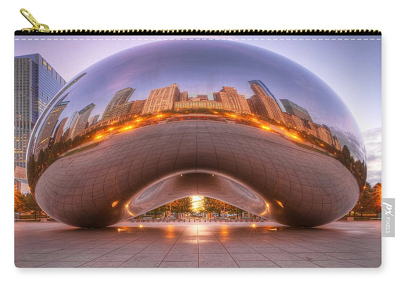 Chicago Carry-all Pouch featuring the photograph Early Morning Bean by Lindley Johnson