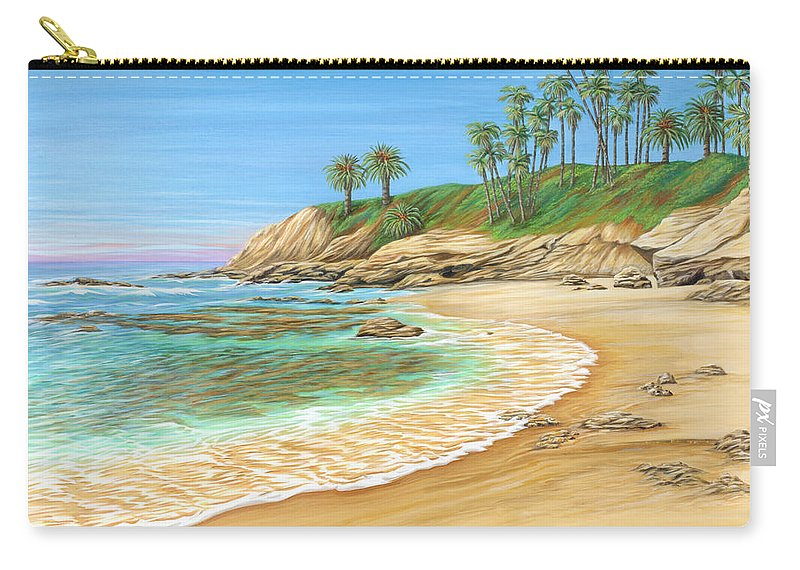 Beach Carry-all Pouch featuring the painting Early Morning Laguna by Jane Girardot