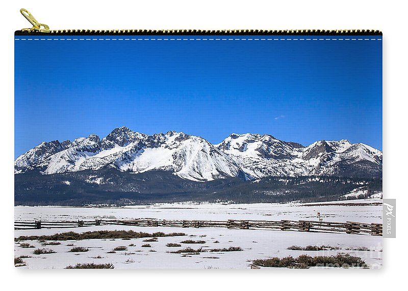 Rocky Mountains Carry-all Pouch featuring the photograph Early Spring In The Sawtooth by Robert Bales