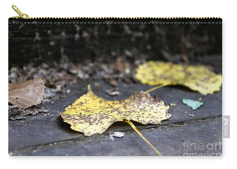Leaves Carry-all Pouch featuring the photograph Early Start To Autumn by Nikki Vig