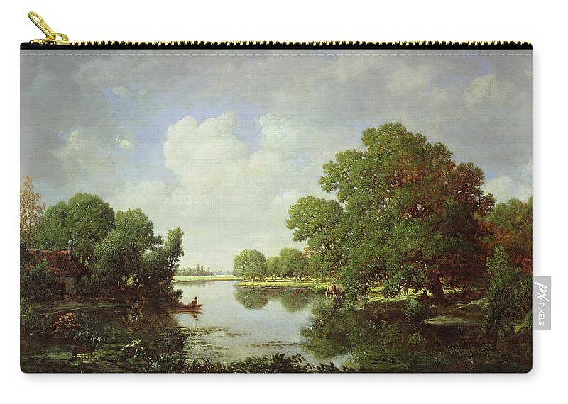 Early Summer Afternoon Carry-all Pouch featuring the painting Early Summer Afternoon by Pierre Etienne Theodore Rousseau
