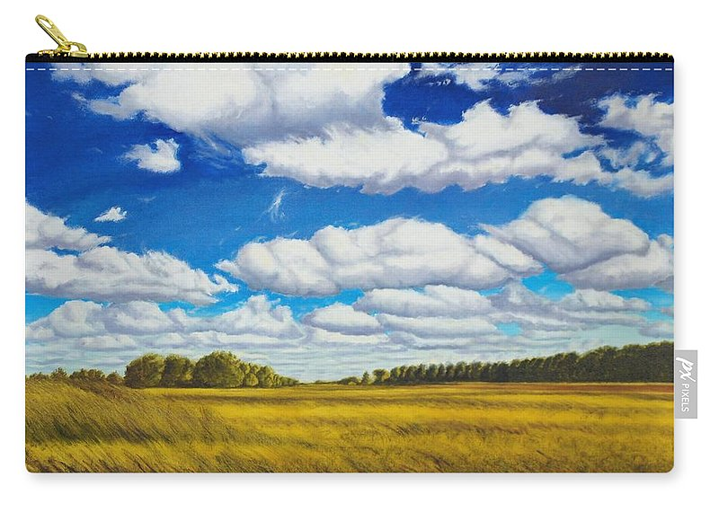 Wheat Carry-all Pouch featuring the painting Early Summer Clouds by Leonard Heid