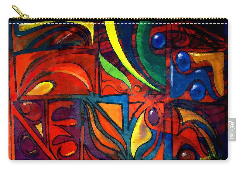 Seamless Carry-all Pouch featuring the painting Earth by Marcello Cicchini