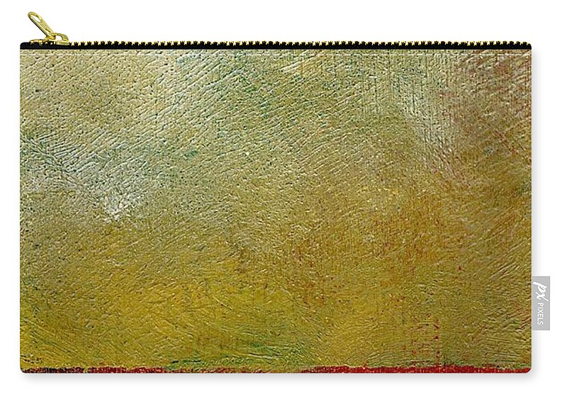 Abstract Landscape Carry-all Pouch featuring the painting Earth Study One by Michelle Calkins