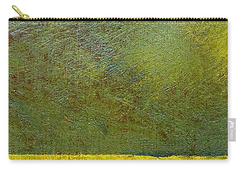 Abstract Landscape Carry-all Pouch featuring the painting Earth Study Two by Michelle Calkins