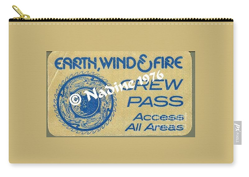 Earth Carry-all Pouch featuring the photograph Earth Wind Fire Crew Pass 1976 by Jussta Jussta