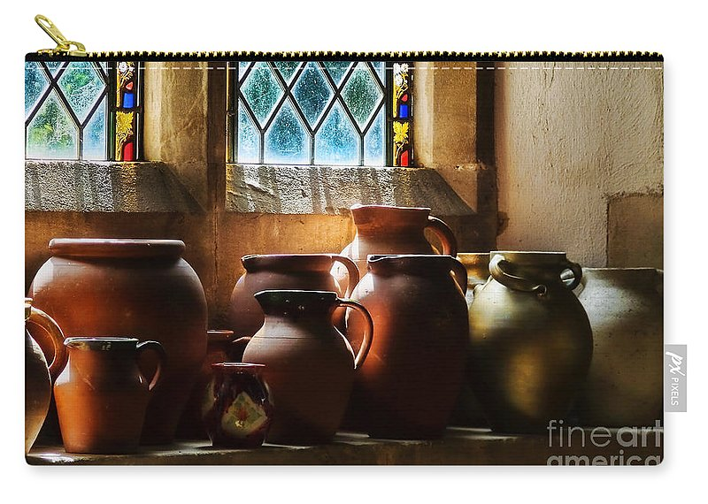 Earthenware Pots Carry-all Pouch featuring the photograph Earthenware Pots by Susie Peek