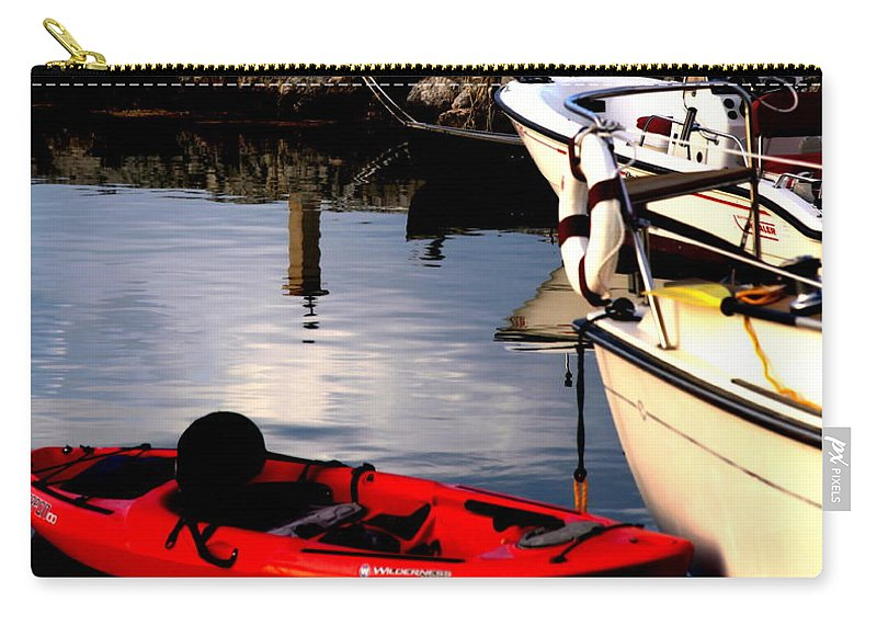 Florida Keys Carry-all Pouch featuring the photograph Ease Of The Keys by Karen Wiles