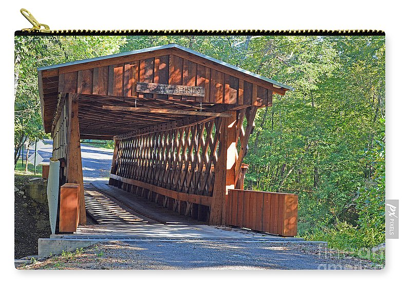 Bridges Photographs Carry-all Pouch featuring the photograph Easley Covered Bridge by Barb Dalton