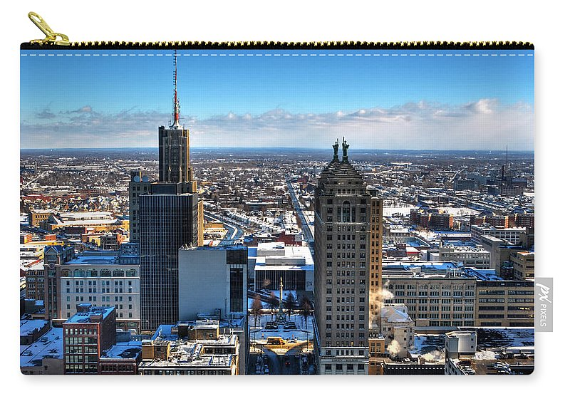 Winter Carry-all Pouch featuring the photograph East Side Winter 2013 by Michael Frank Jr