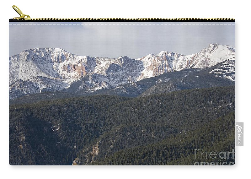 Pikes Peak Carry-all Pouch featuring the photograph Easter Peak by Steve Krull