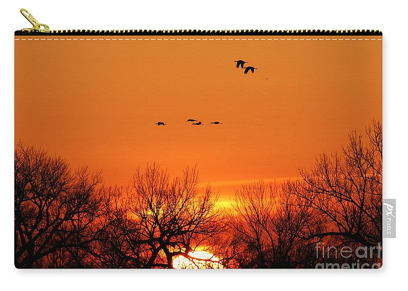 Easter Sunrise Carry-all Pouch featuring the photograph Easter Sunrise by Elizabeth Winter