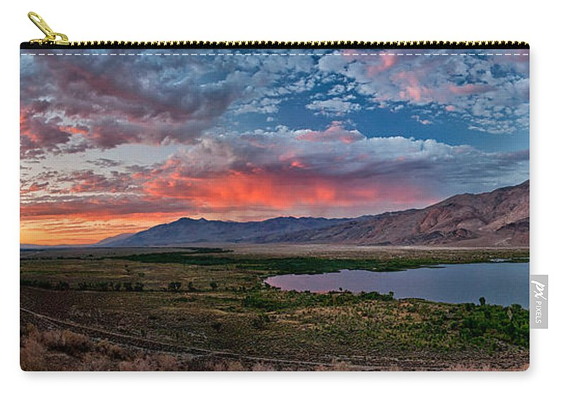 Sunset Carry-all Pouch featuring the photograph Eastern Sierra Sunset by Cat Connor