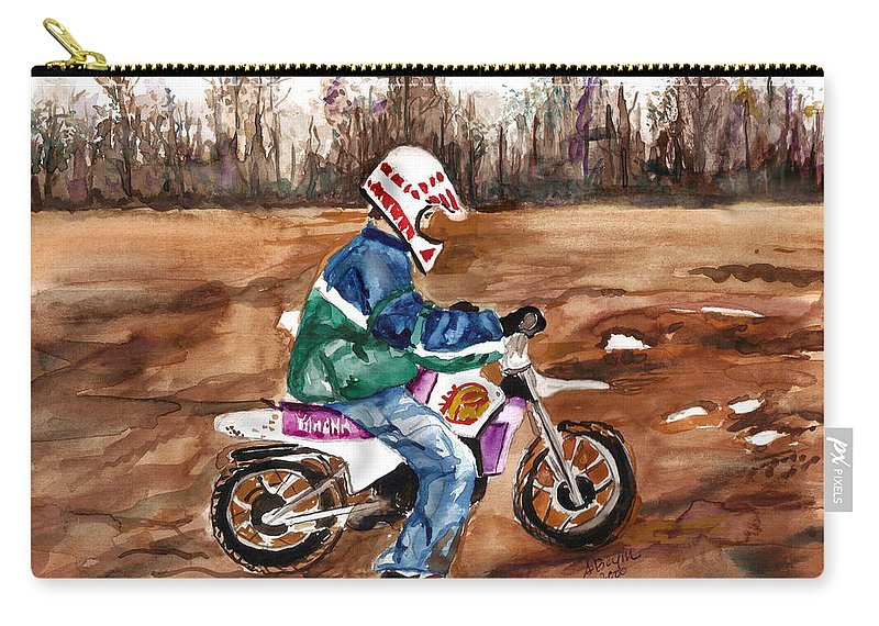 Yamaha Carry-all Pouch featuring the painting Easy Rider by Clara Sue Beym
