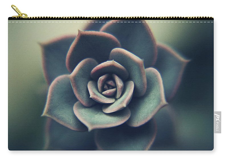Outdoors Carry-all Pouch featuring the photograph Echeveria Macro by Con Ryan