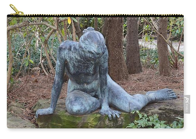 Echo The Greek Nymph Carry-all Pouch featuring the photograph Echo The Greek Nymph by Maria Urso
